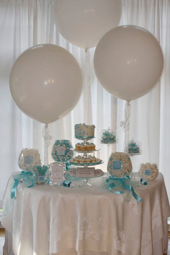 Wedding Candy Buffet With Balloons