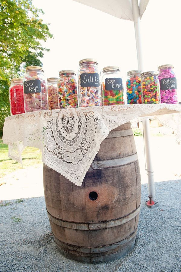 Wedding Candy Buffet Barrel