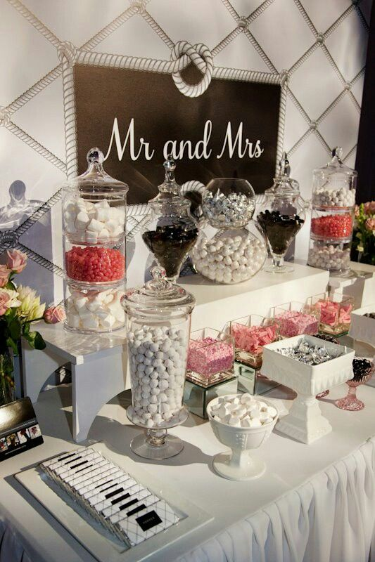 Classic Wedding Candy Buffet