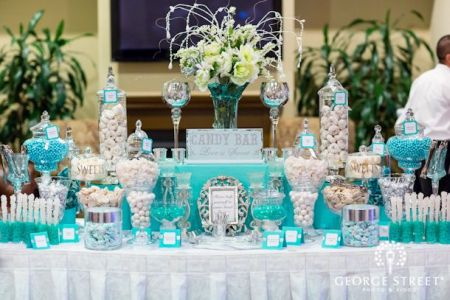 Beautiful Blue Wedding Candy Bar