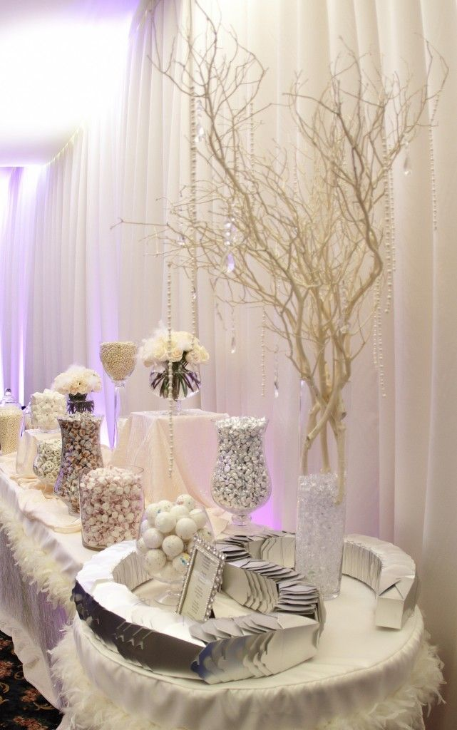 A wedding candy buffet allows you to bring the reception theme to life candy by candy.  Creating a showstopping display that is as sweet as the treats is the ul