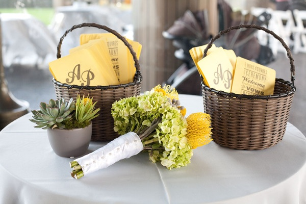 Baskets Filled With Wedding Favor Fans