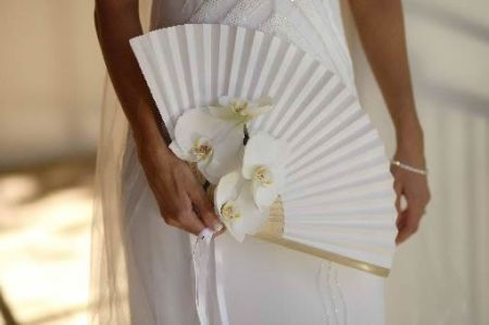 Adorned Wedding Favor Fans