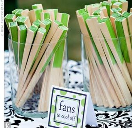 Colorful Wedding Favor Fan Display