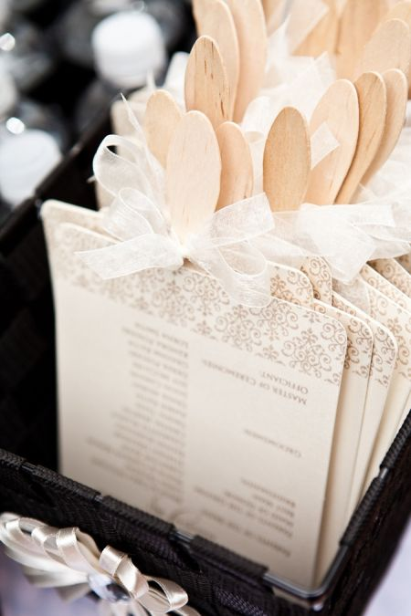 Pretty Wedding Favor Fan Display
