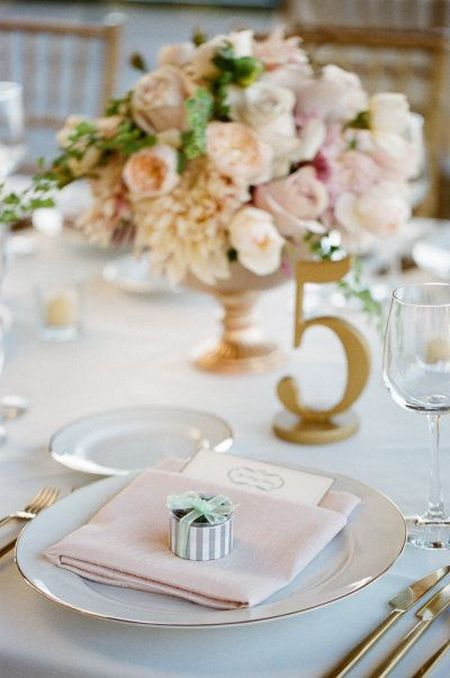 Wedding Favor Mints Tablescape