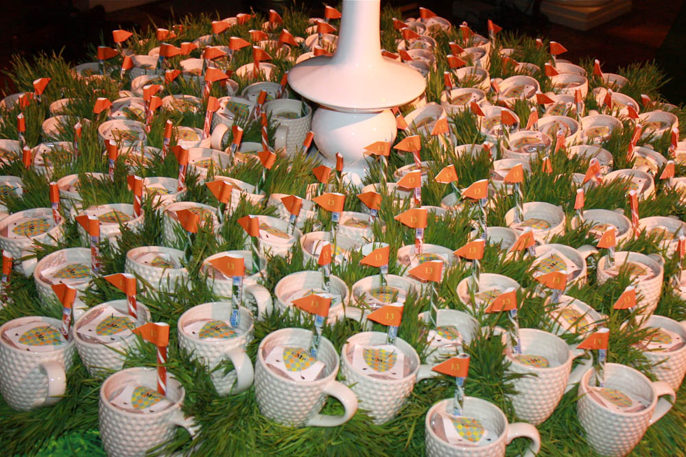 Coffee Cup Golf Wedding Favors