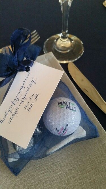 Golf Themed Wedding Favor Idea
