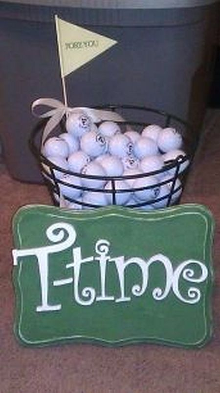 T-time Golf Themed Wedding Favors