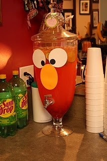 Elmo Birthday Party Ideas For Beverage Dispensers
