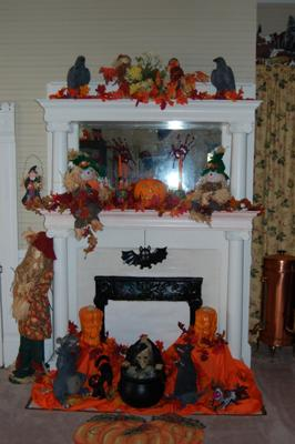 Halloween decoration ideas for the fireplace - Deco hal halloween ...