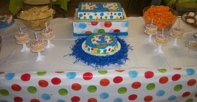 Polka Dot First Boy Birthday Party