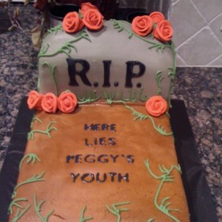 Grave 50th Birthday Cake Idea