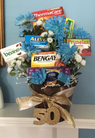 50th Birthday Gag Gifts Flower Idea
