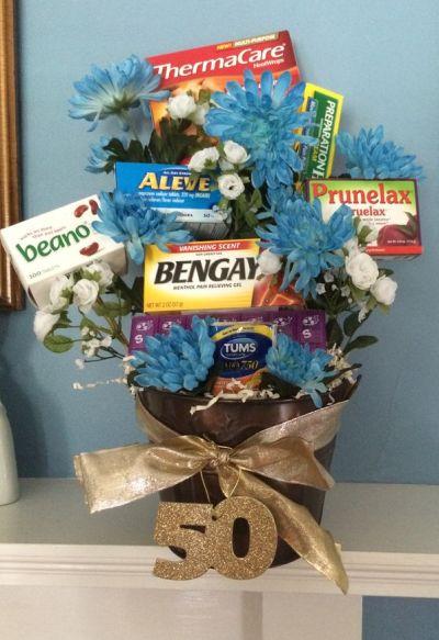50th Birthday Gag Gifts Flower Idea