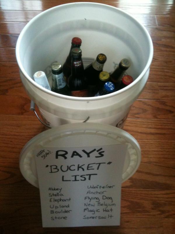 50th Birthday Gag Gifts Bucket List