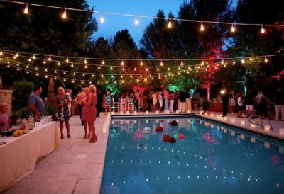 A Simple String Of Lights Is One The Easiest Ways To Enhance Decor Your Outdoor Celebration This Party Accessory Creates Festive Mood While