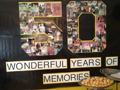 50th Birthday Party Decorations Memory Board