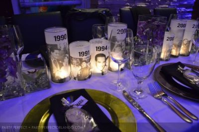 Photo Courtesy Of Party Perfect 50th Birthday Centerpieces