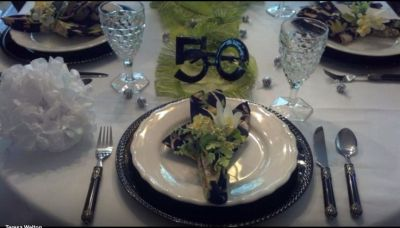 50th Birthday Party Decorations For Tablescape
