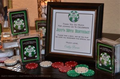Casino Themed 50 Birthday Party Favors