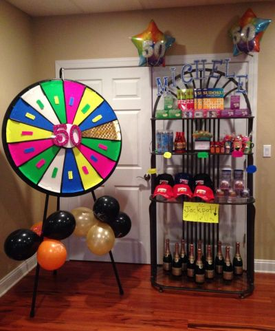 50th Birthday Party Games Display