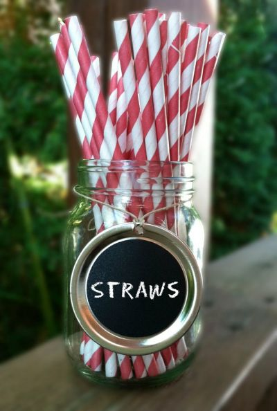 Decorative Drinking Straw Presentation