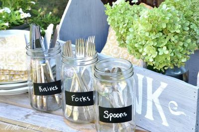 50th Birthday Party Supplies In Mason Jars