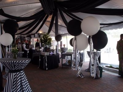 Black & White 50th Birthday Party Theme