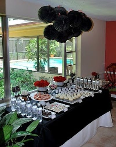 50th Birthday Party Themed Table