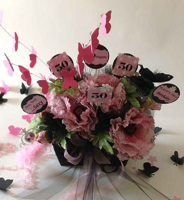 50th Birthday Party Themed Flowers