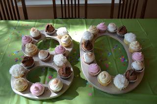 80th Birthday Cupcakes On Homemade Holder