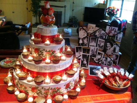 80th Birthday Cupcake Tower