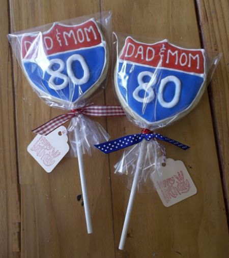 Cookie on a Stick 80th Birthday Party Favors