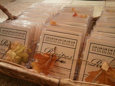Recipe Cards 80th Birthday Party Favors