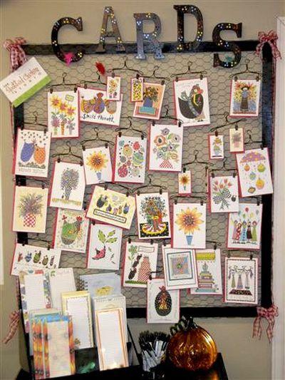 80th Birthday Card Wall Presentation