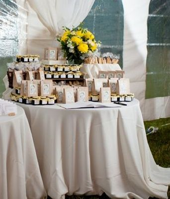 Biscotti Wedding Favor Tablescape