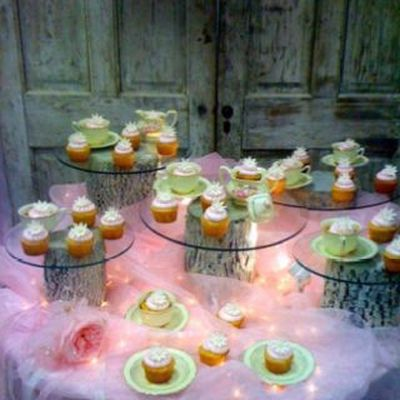Bridal shower decoration ideas tulle table skirt junglespirit Images