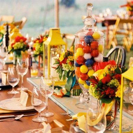 Colorful Bubblegum Wedding Favors