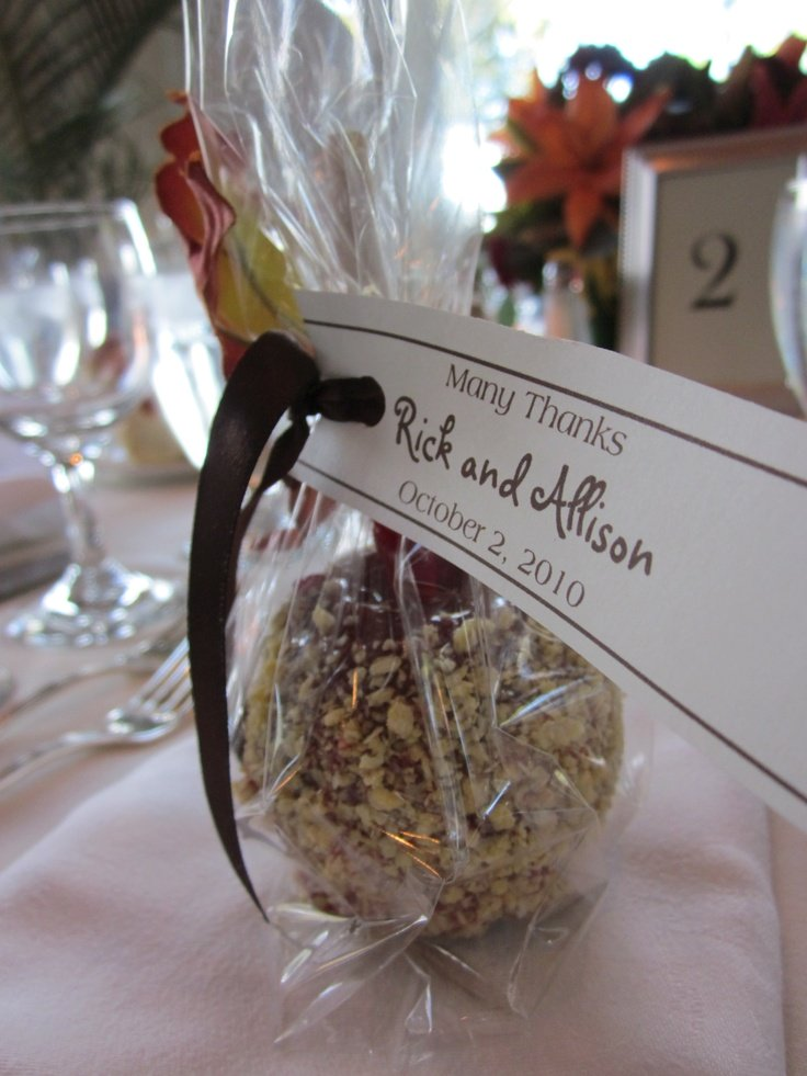 Many Thanks Candy Apple Wedding Favor