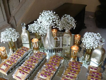 Silver And Gold Chocolate Bar Wedding Favors