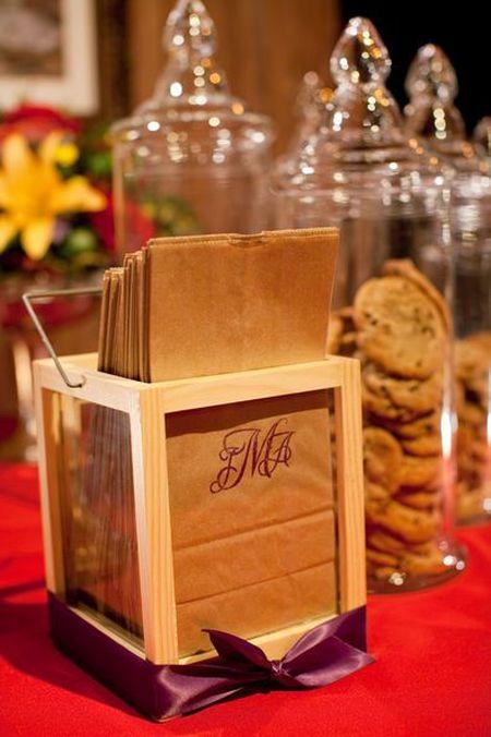 Cookie Bar Wedding Favors Packaging