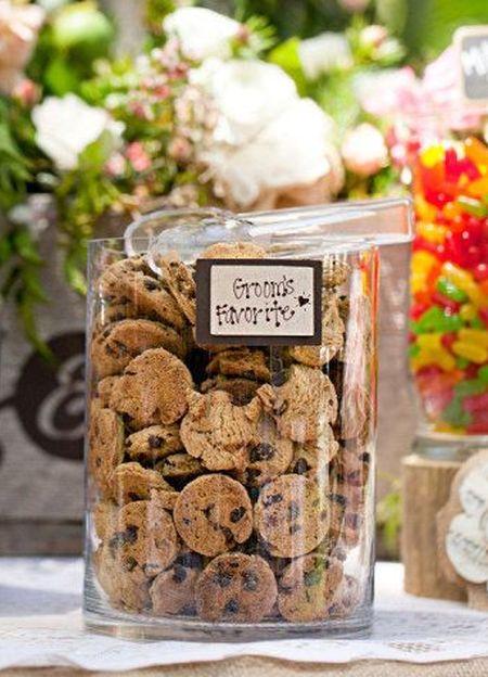 Groom Favorite Cookie Bar Wedding Favors