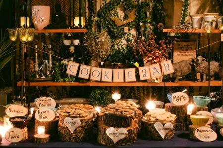 Impressive Cookie Bar Wedding Favor Display