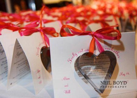 Heart Shaped Cookie Cutter Wedding Favors