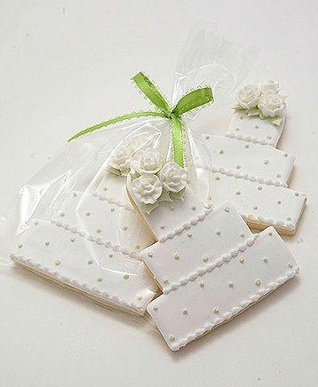 Decorated Wedding Cookie Cakes