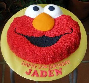 Elmo Shaped Birthday Cake