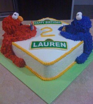 Elmo Birthday Cake Idea