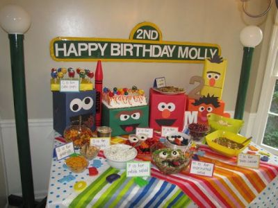Elmo Birthday Party Ideas On Sesame Street