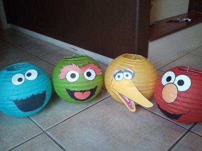 Elmo Birthday Party Ideas Lanterns